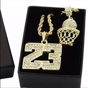 Other - Brand New Sports Basketball Chains Pendant Bundle